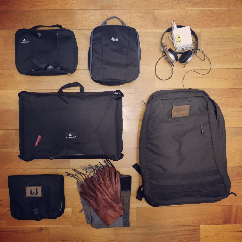 Goruck GR1 is **great for travel**, but quickly gets heavy due it's build materials and it's open flat compartment that holds a lot