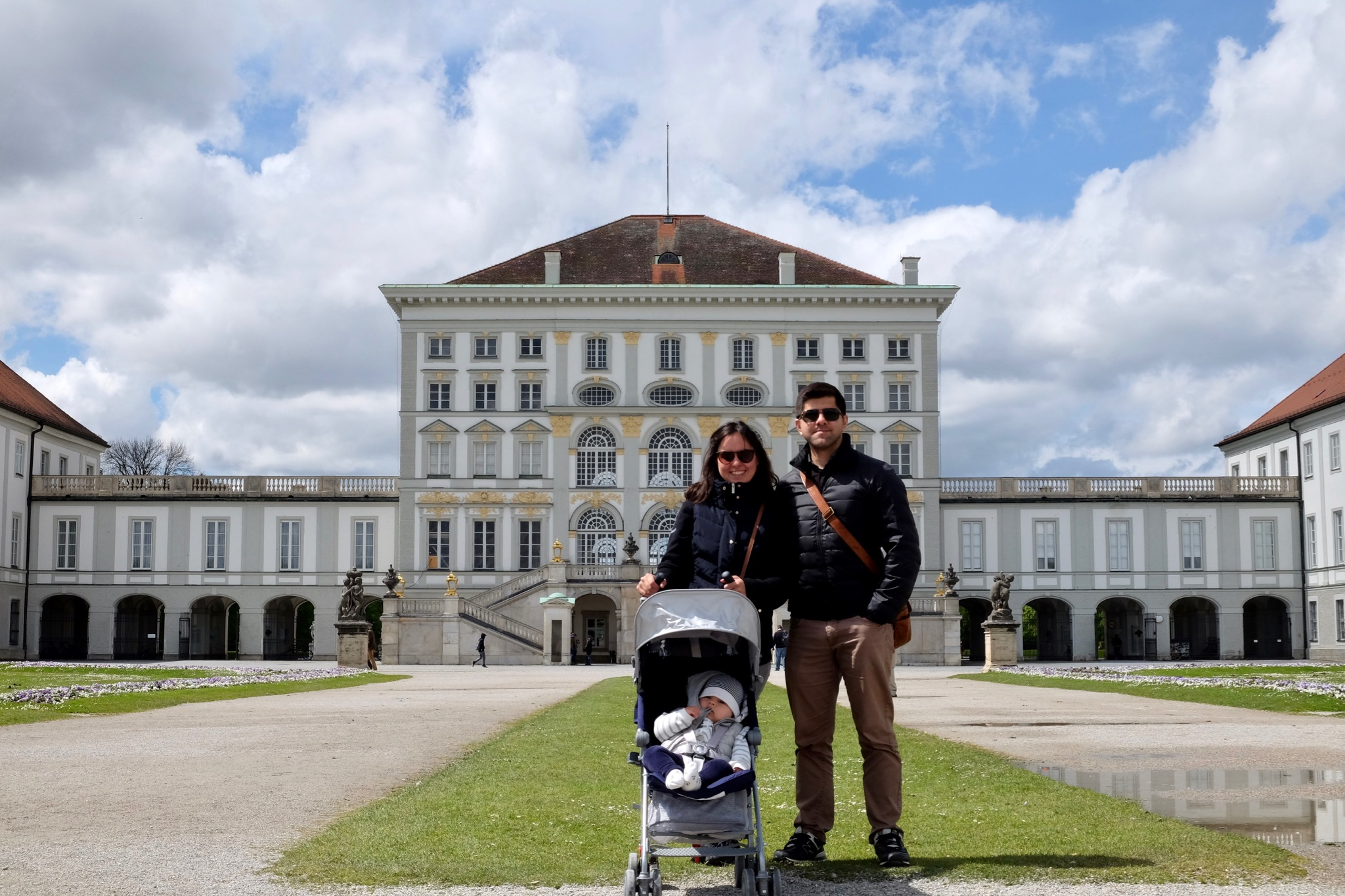 Zeynep, Alper and me at Nymphenburg Palace - Munich, Germany